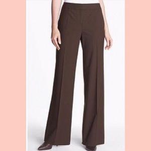 LIKE NEW Lafayette 148 Brown Wool Trousers Slacks